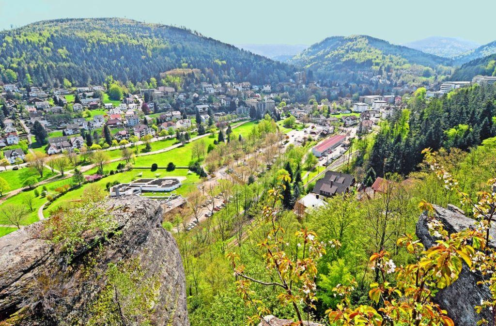Bad Herrenalb im Landkreis Calw  – ob die Gemeinde künftig zum badischen Landkreis Karlsruhe gehören wird, entscheidet sich am Sonntag. Foto: Stefan Jehle