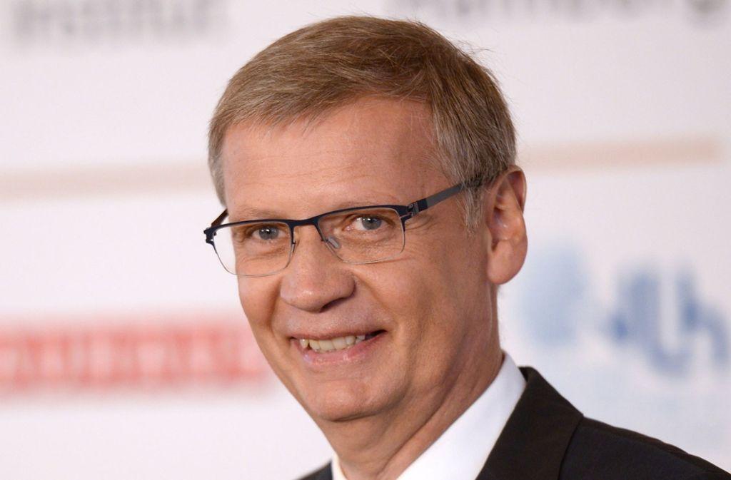 """Zum ersten Mal seit Herbst 2016 hat RTL-Quizmaster Günther Jauch einem Kandidaten seiner Show """"Wer wird Millionär?"""" die Eine-Million-Euro-Frage gestellt. Foto: dpa"""