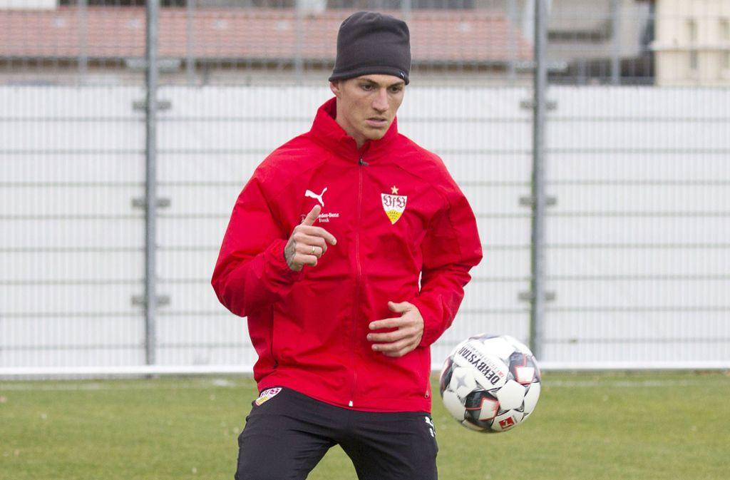 Steven Zuber war am Montag und Dienstag schon für den VfB Stuttgart am Ball. Foto: Baumann