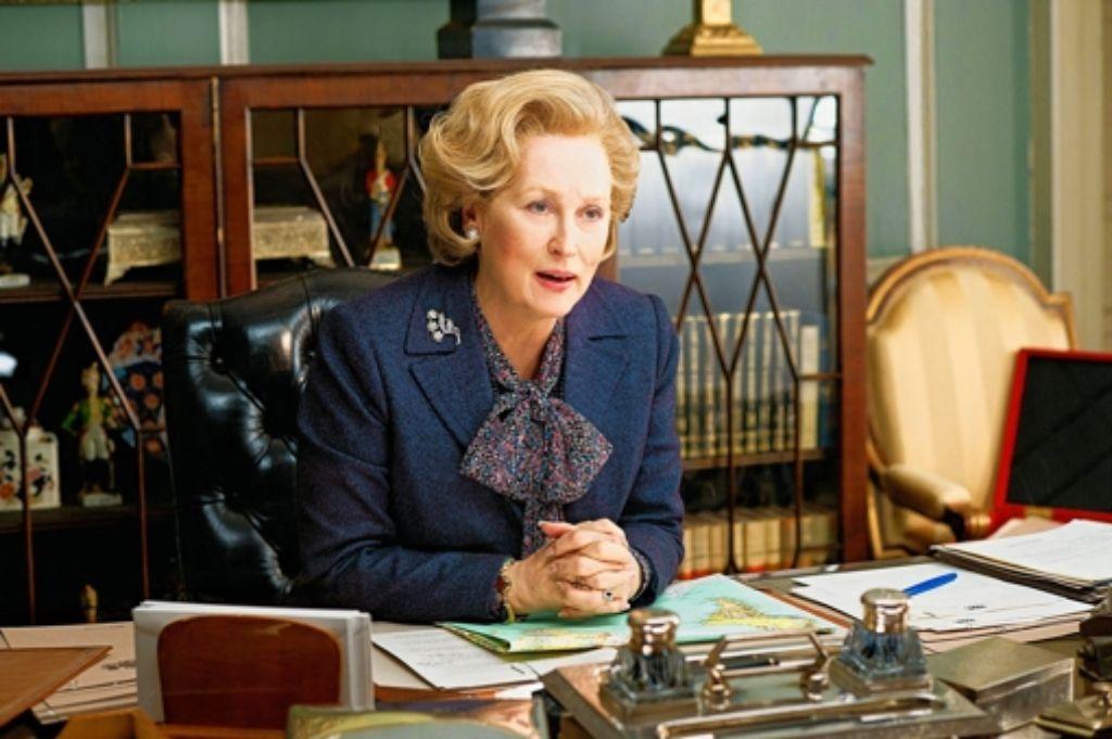 Meryl Streep als Premierministerin Margaret Thatcher in einer Szene des Kinofilms Die Eiserne Lady. Foto: dpa