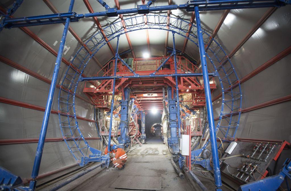 Der gesamte Tunnelvortrieb der Neubaustrecke von Wendlingen nach Ulm mit einer Gesamtlänge von fast 61 Kilometern soll nahezu abgeschlossen sein (Archivbild). Foto: Pressefoto/Horst Rudel