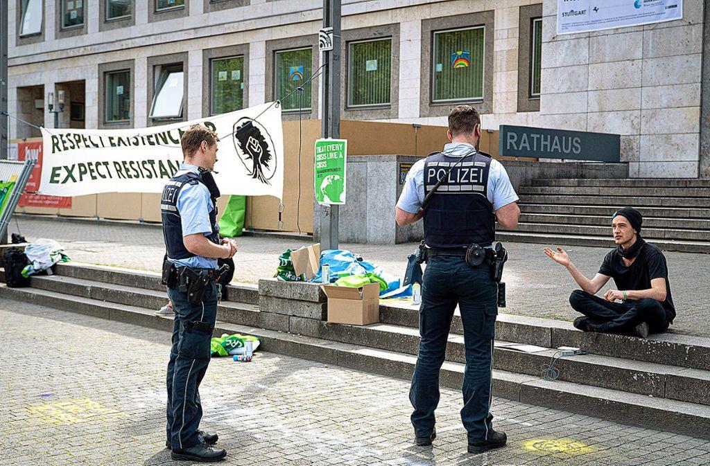 Klimaaktivisten  fordern von der Polizei eine Entschuldigung. Foto: 7aktuell.de/Marc Gruber Foto: