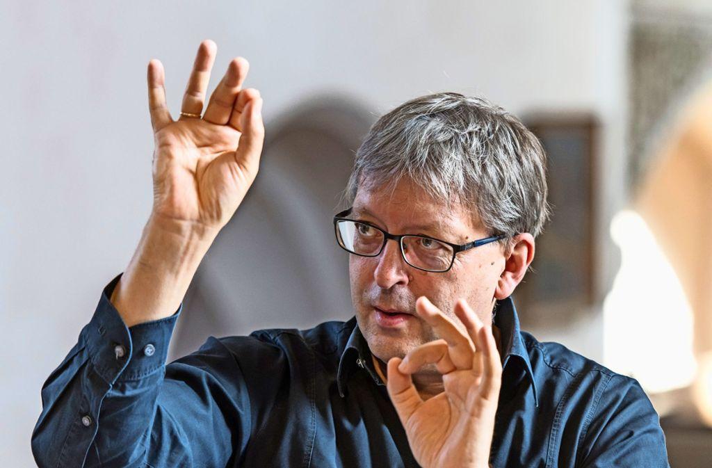Leitet seit 2013 die Bachakademie: Hans-Christoph Rademann Foto: Holger Schneider