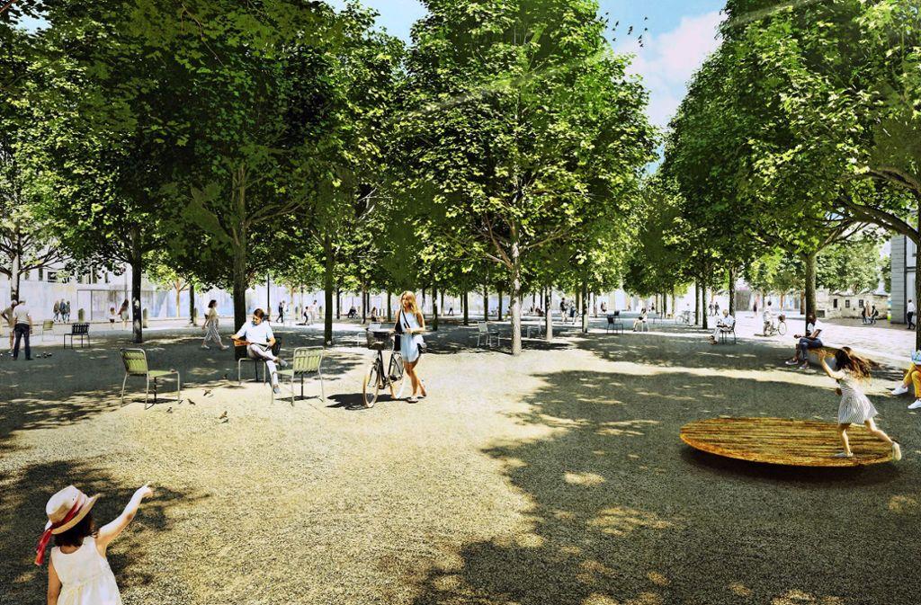 Der Entwurf der Firma Mann Landschaftsarchitektur hat den Wettbewerb ZIEL gewonnen Foto: Mann Lanbdschaftsarchitektur