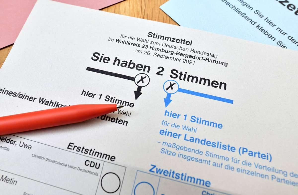 7,7 Millionen Menschen im Südwesten sind bei der Bundestagswahl stimmberechtigt. (Symbolbild) Foto: imago images/Christian Ohde/Christian Ohde via www.imago-images.de