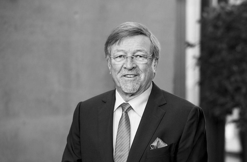 Walter Lechler ist im Alter von 75  Jahren gestorben. Foto: Elring-Klinger