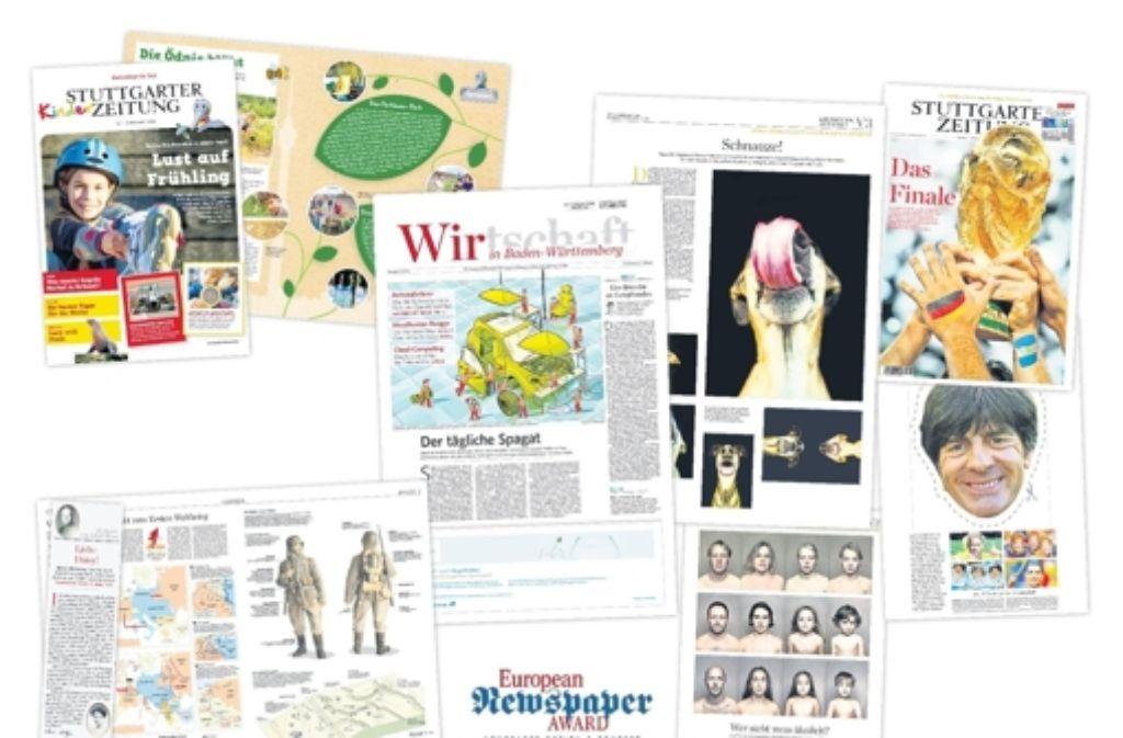 Mehrere Seiten und Projekte der Stuttgarter Zeitung erhalten Preise. Foto: StZ