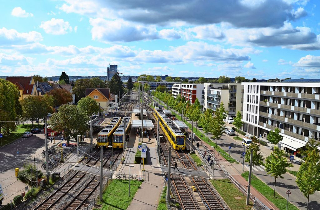 Anwohner im Bereich des Möhringer Bahnhofs und des SSB-Depots klagen über zunehmenden Schienenlärm. Foto: Sandra Hintermayr