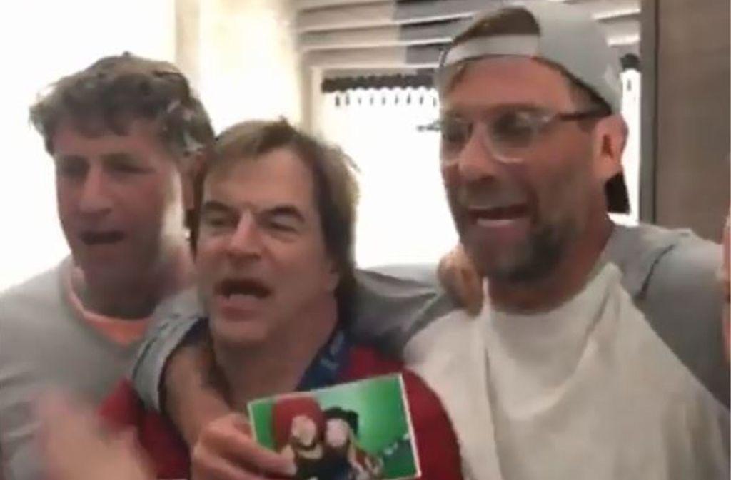 Jürgen Klopp (rechts) feiert mit Campino von den Toten Hosen Foto: Instagram/dietotenhosen_official