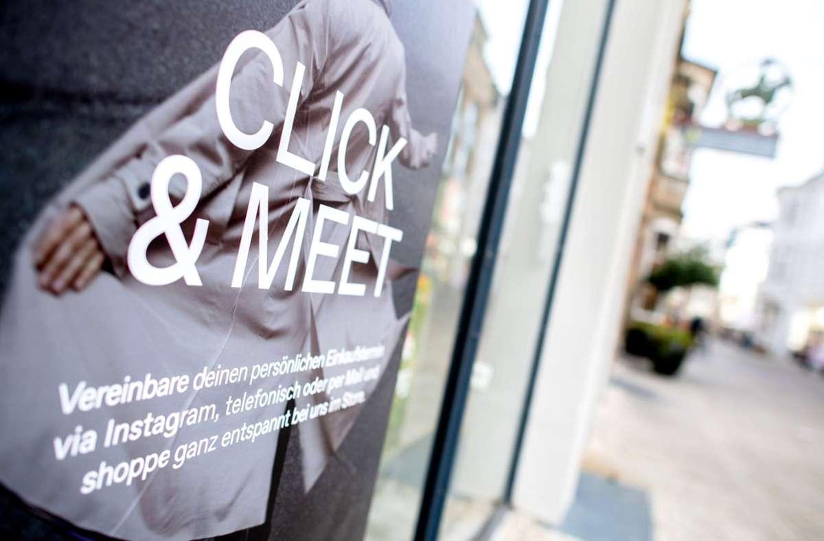 Click & Meet ist im Rems-Murr-Kreis frühestens in einer Woche möglich. Foto: dpa/Hauke-Christian Dittrich