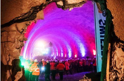 Zweiter Tunneldurchschlag bei S21 gefeiert