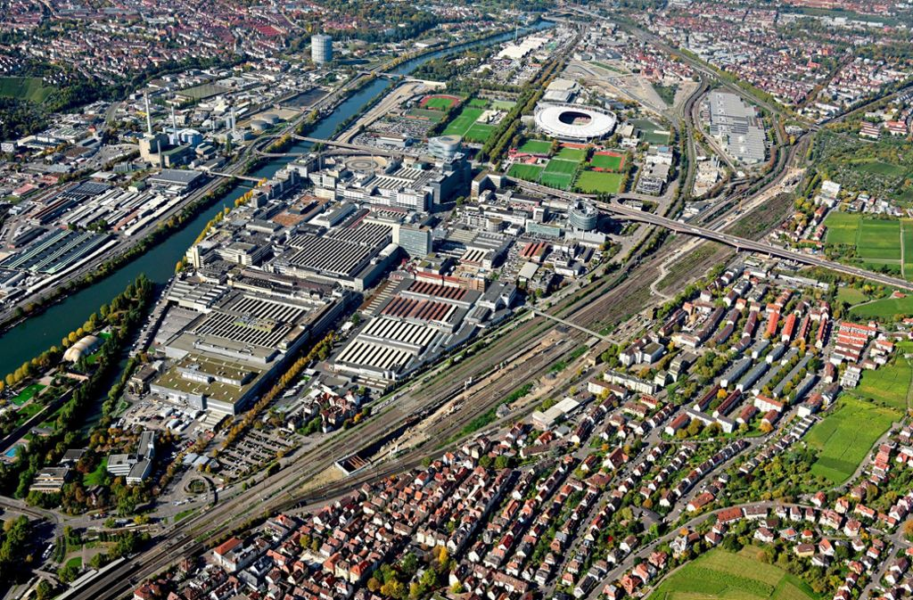Die Gleise des Güterbahnhofs zwischen Daimler-Werk und Untertürkheim will die Bahn als Abstellbahnhof nutzen. Foto: DB Projekt Stuttgart–Ulm/Arnim Kilgus