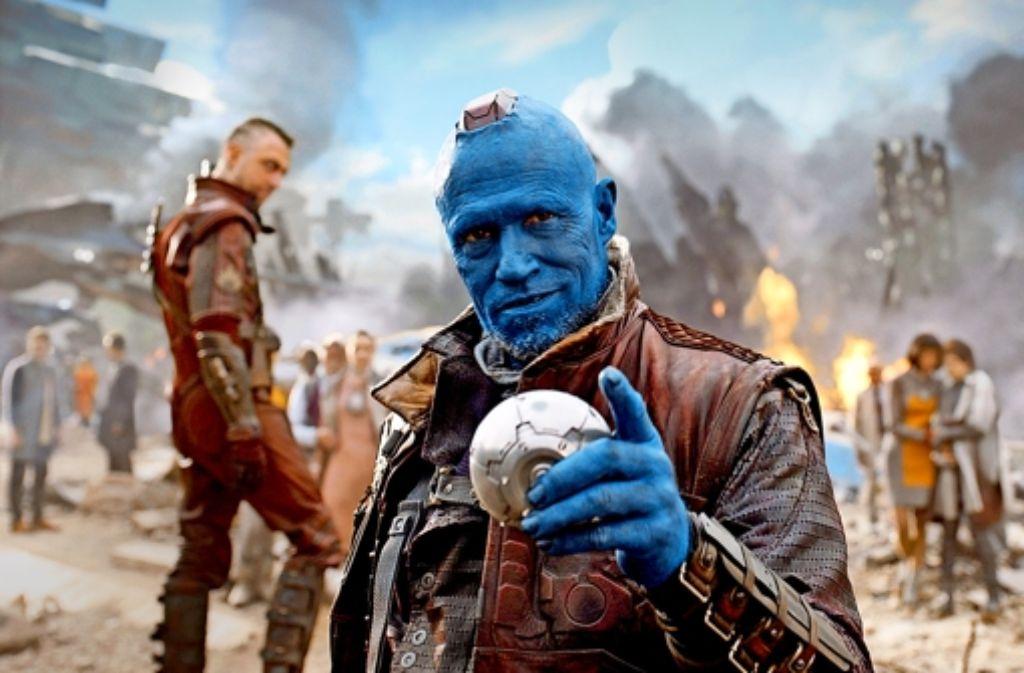 Michael Rooker ist blau vor Freude, in der  Comicverfilmung dabei sein zu dürfen. Foto: Disney