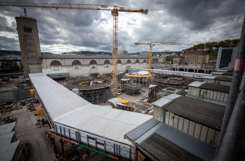 Die S-21-Baustelle am Stuttgarter Hauptbahnhof Foto: Lichtgut/Julian Rettig
