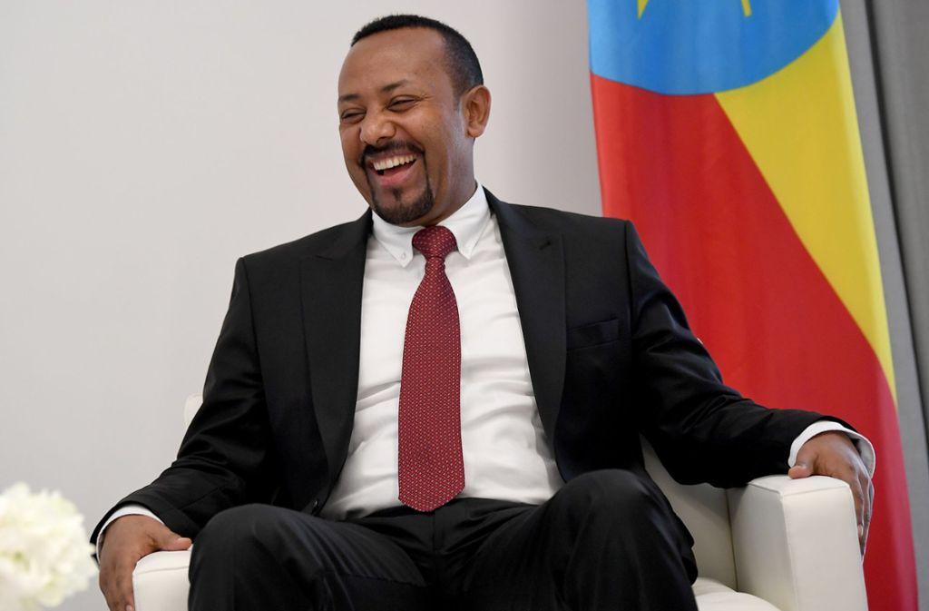 Der diesjährige Friedensnobelpreis geht an den äthiopischen Ministerpräsidenten Abiy Ahmed. Foto: dpa/Britta Pedersen