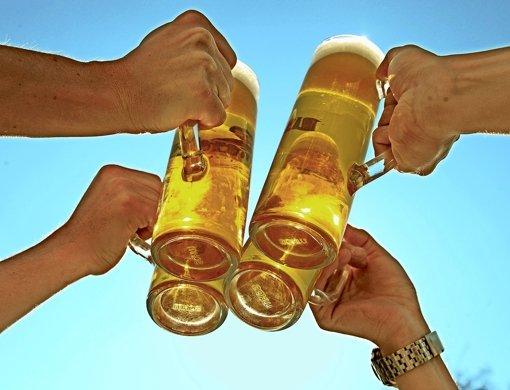 Bierkonsum kann es nicht herausreißen