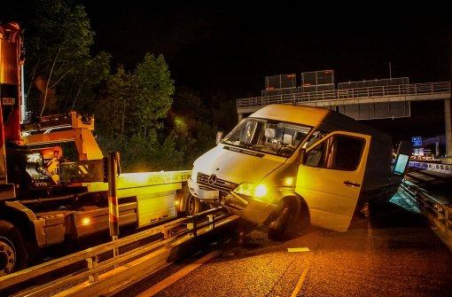 Schon wieder Unfall am Autobahndreieck