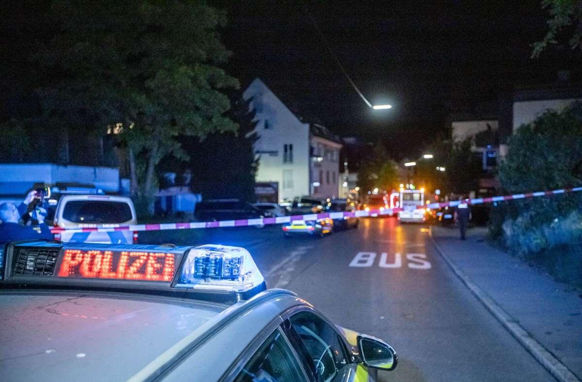 Ein Großaufgebot der Polizei und Spurensicherung war vergangene Nacht im Einsatz und sperrte den Tatort. Foto: 7aktuell.de//Simon Adomat