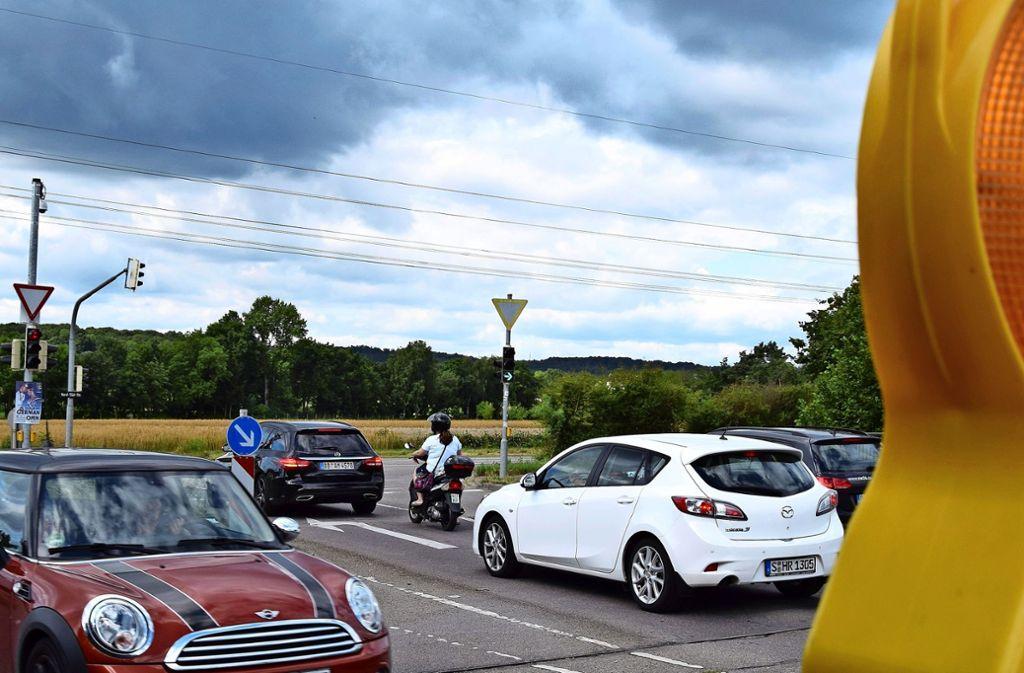 Am Wochenende ist die Nord-Süd-Straße stadteinwärts vom Abzweig Heilbrunnenstraße an gesperrt. Die Umleitung führt durch die Ortsmitte. Foto: Archiv Alexandra Kratz