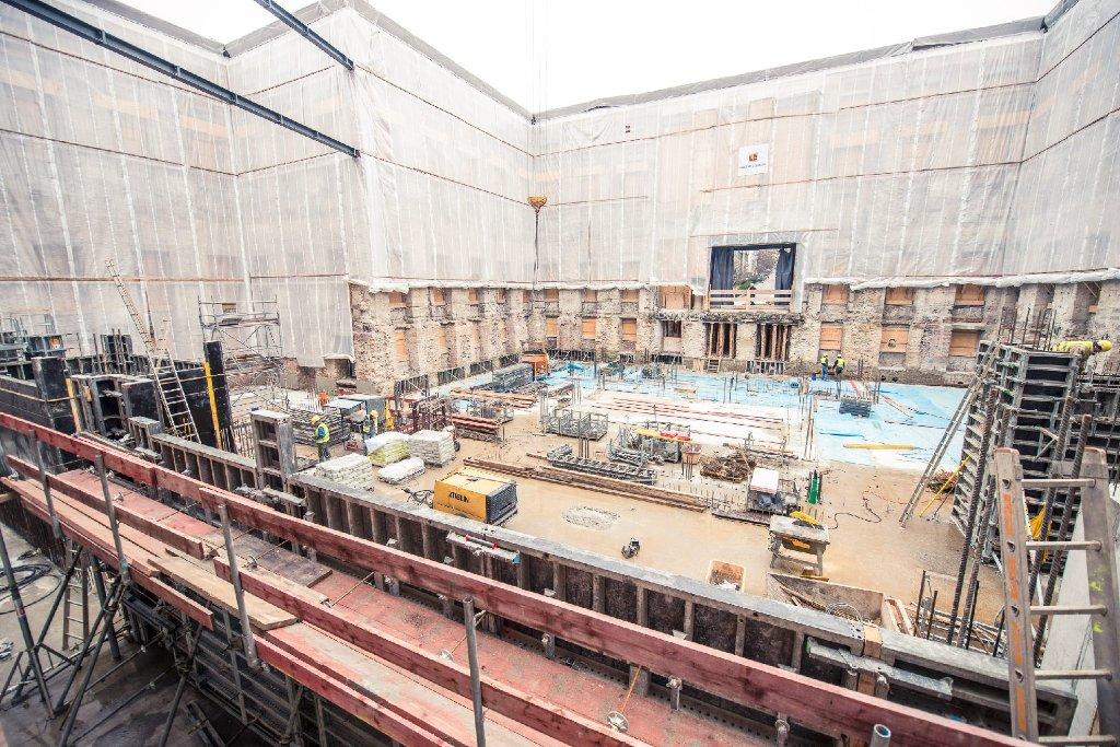 Bis zum Jahr 2017 soll im Wilhelmspalais in Stuttgart-Mitte das neue Stadtmuseum entstehen. Wir haben die Bilder der Baustelle vom Januar 2015. Foto: www.7aktuell.de | Florian Gerlach