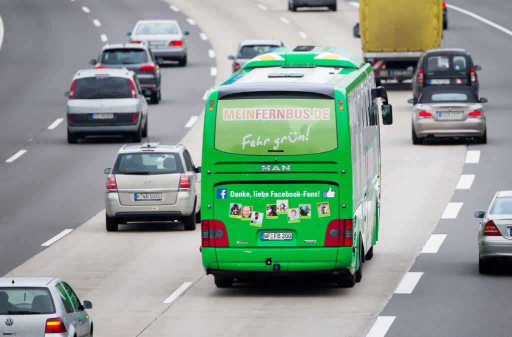 Seit 2013 ein gewohntes Bild: Fernbus im innerdeutschen Linienverkehr Foto: dpa