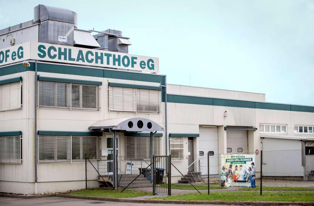 Bis auf Weiteres geschlossen: der Gärtringer Schlachthof Foto: dpa/Christoph Schmidt