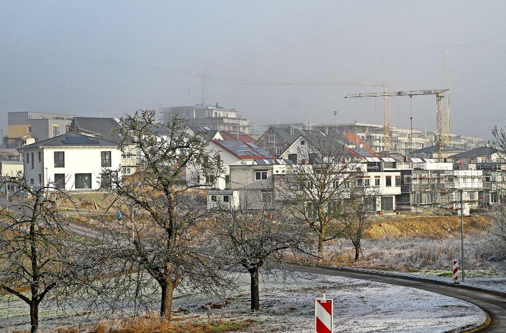 Das Gebiet Hälde entwickelt sich rasant. Foto: factum/Bach