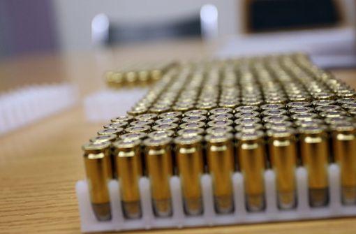 Munitionsfund im Mülleimer