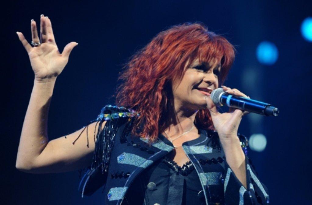 Andrea Berg mag nicht nur auf der Bühne, sondern auch im Wengert stehen. Foto: dpa