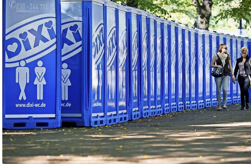 Nicht jeder verlässt die Toiletten auf Festivals so, wie er sie vorgefunden hat. Foto: dpa