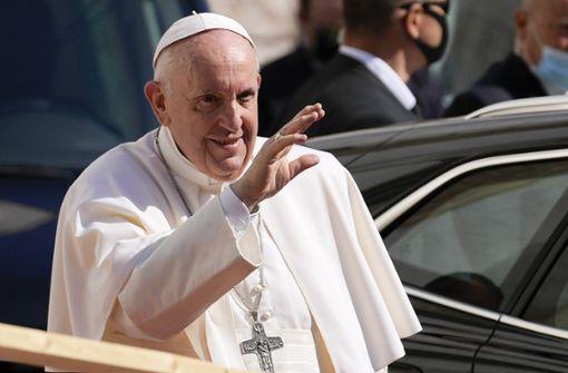 Papst trifft sich mit Regierungschefs