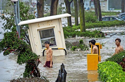 Taifun Mangkhut hat Hongkong  im Griff