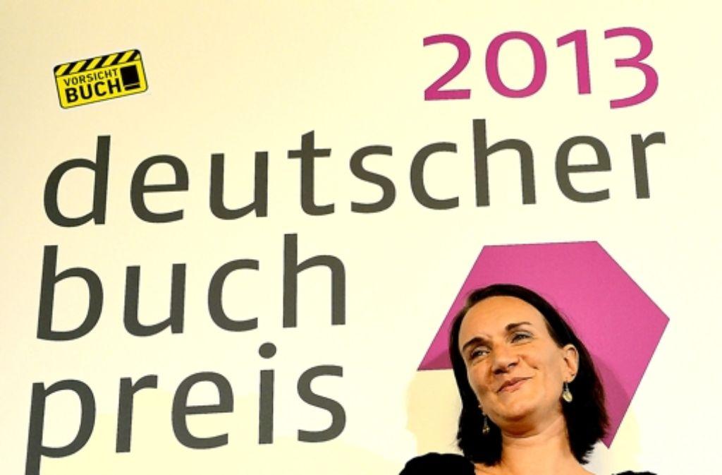 Terézia Mora freut sich über den Deutschen Buchpreis. Foto: dpa