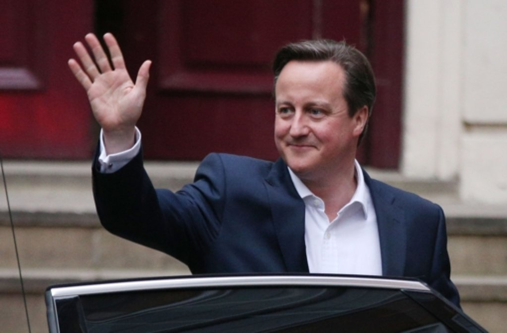 David Camerons Konervsative bleiben wohl an der Macht. Foto: Getty Images Europe