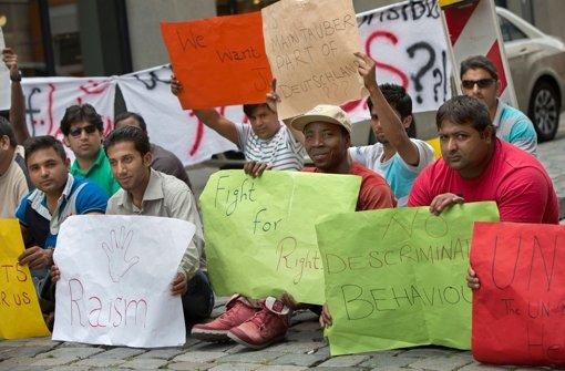 So hatte der Protest der Asylbewerber im Juli vor zwei Monaten angefangen. Foto: