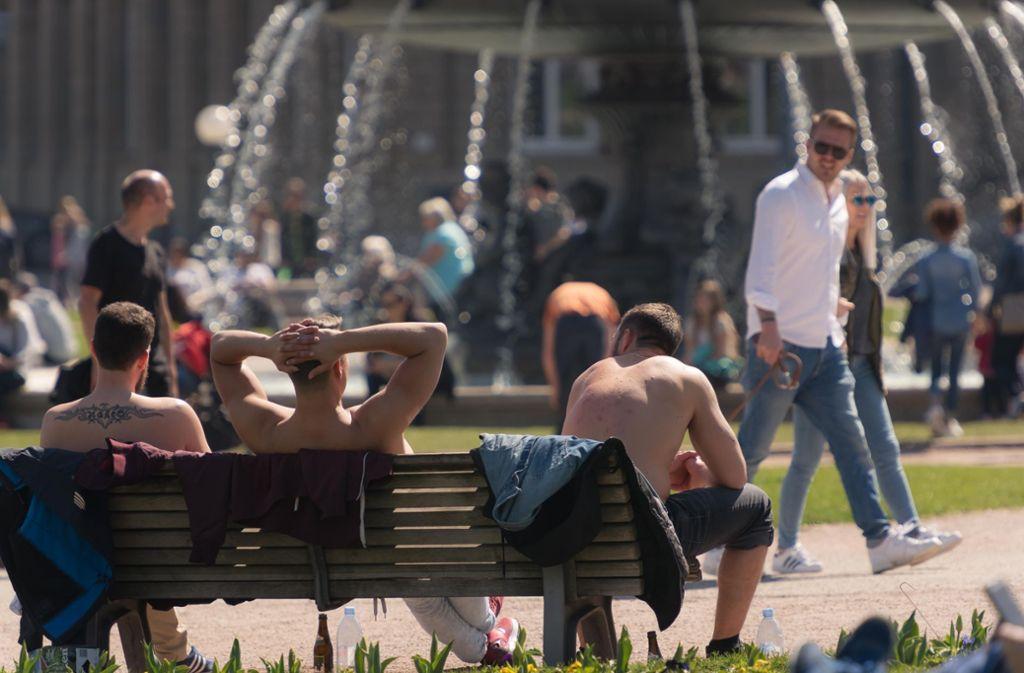 Das T-Shirt kann man bei diesen Temperaturen durchaus auch mal ablegen. Aber Vorsicht, Sonnenbrandgefahr! (Archivfoto) Foto: Lichtgut/Max Kovalenko