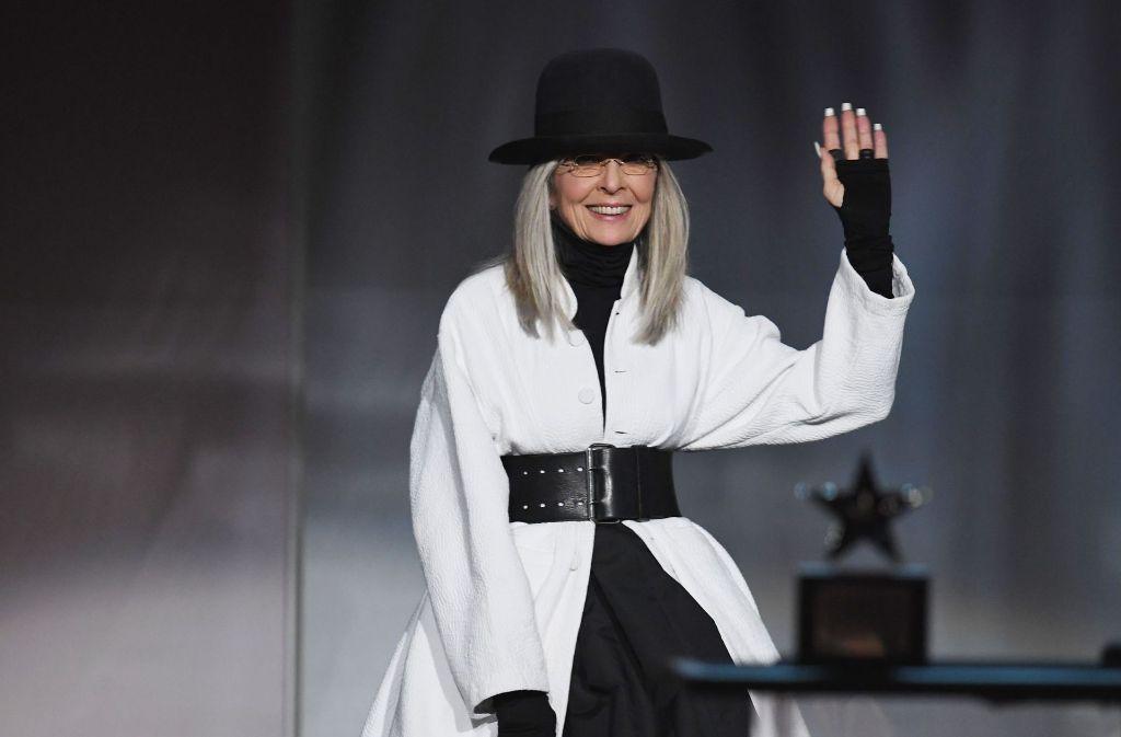 Eine glückliche Diane Keaton bei der Preisverleihung. Foto: GETTY IMAGES NORTH AMERICA