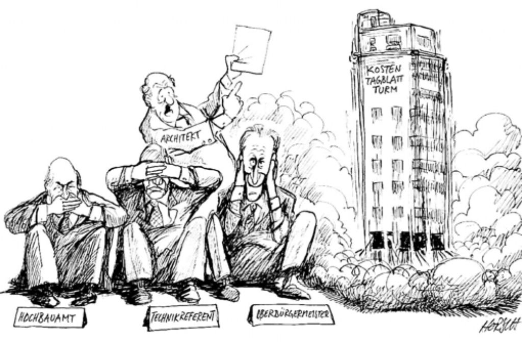 Im Jahr 2002 sind den Verantwortlichen im Rathaus die Kosten für die Sanierung des Tagblatt-Turms regelrecht um die Ohren geflogen. Foto: Wolfgang Horsch