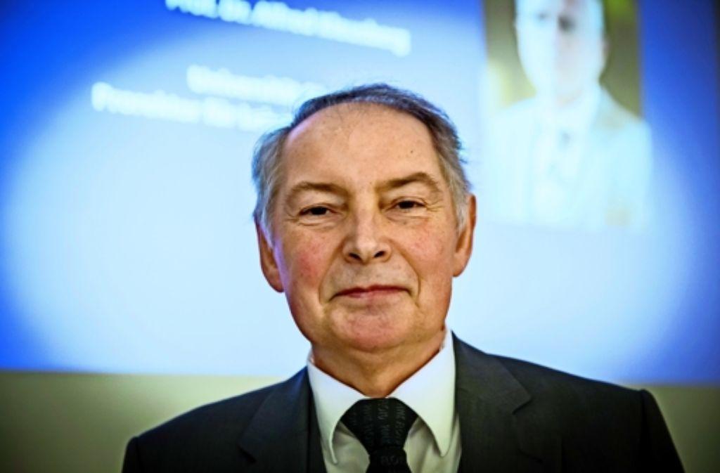 Hans-Peter Röser hat viele Jahre das hoch angesehene Institut für Raumfahrtsystem an der  Universität Stuttgart geleitet. Foto: Lichtgut/Achim Zweygarth