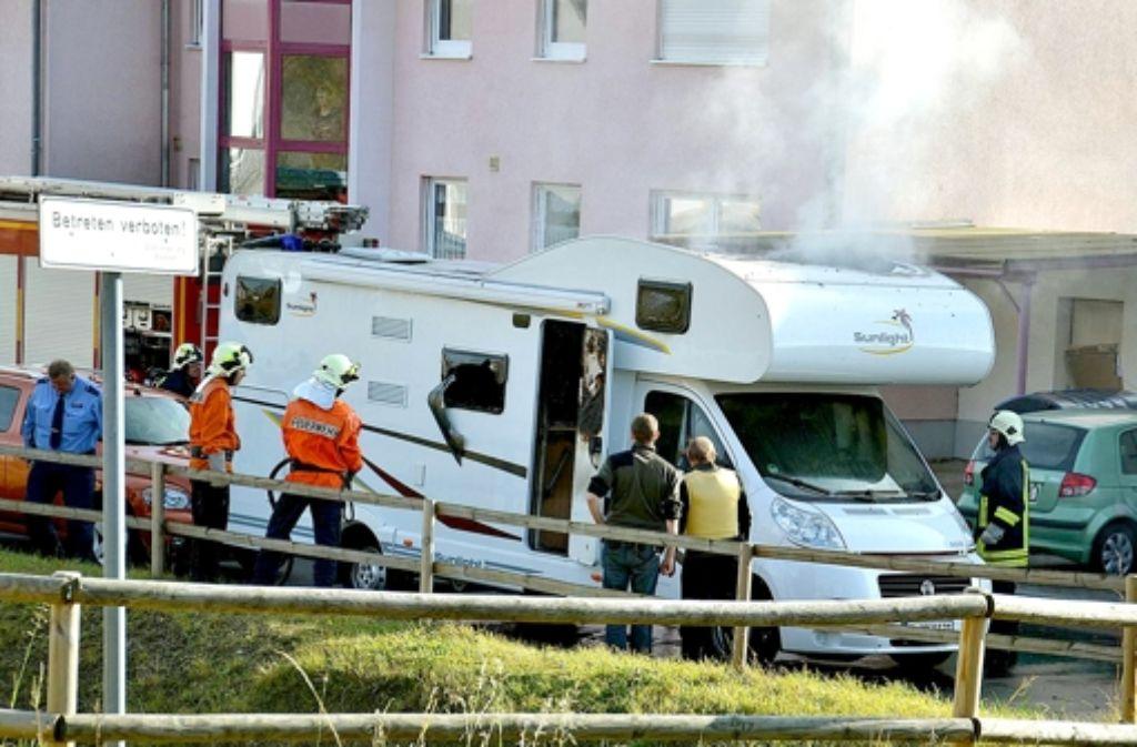 Selbstmord in Eisenach: in diesem Wohnwagen starben Mundlos und Böhnhardt. Foto: dpa