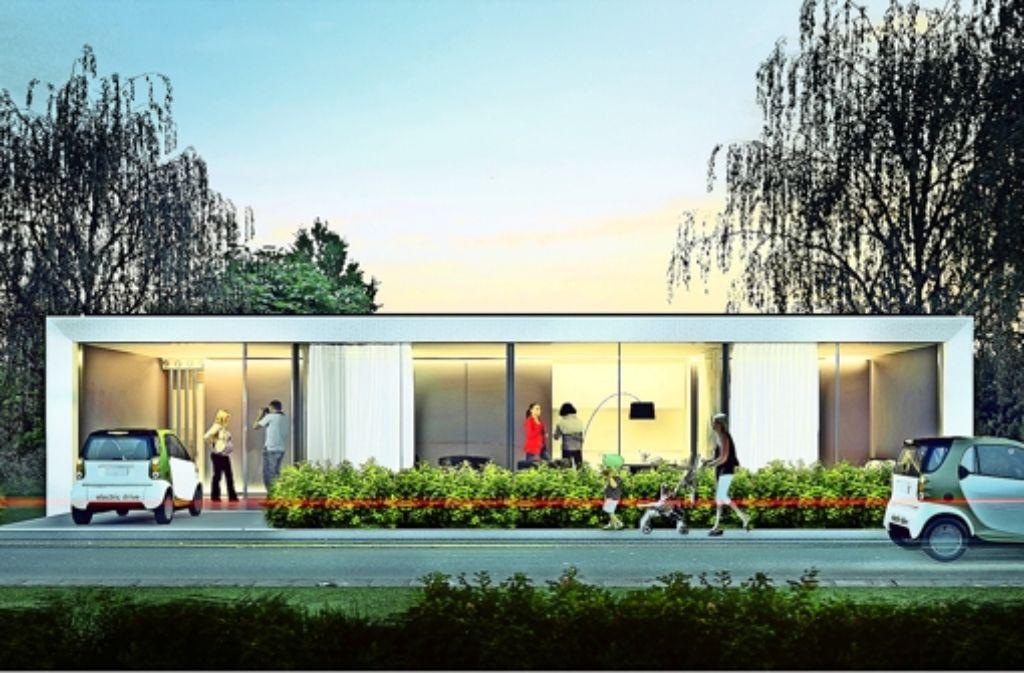 So soll das Musterhaus nach seiner Fertigstellung aussehen. Foto: Sopbek