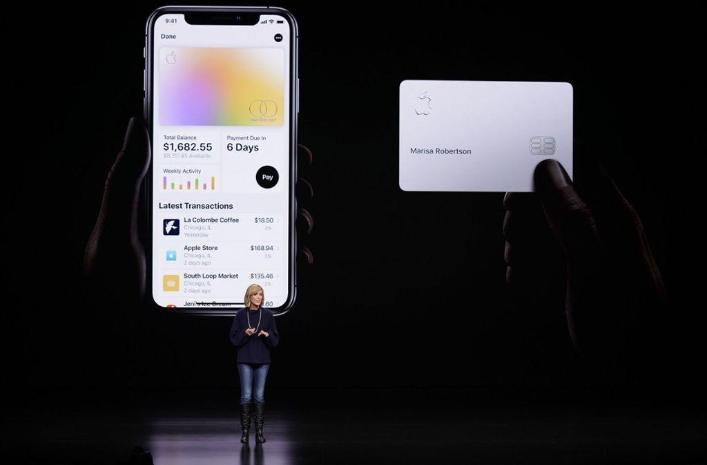 Die Apple Card wurde erst im März diesen Jahres vorgestellt. (Archivbild) Foto: AP/Tony Avelar