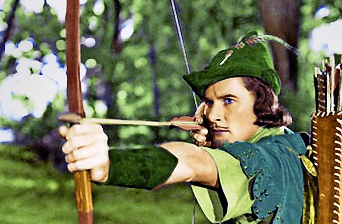 Keine Schulvorstellung mit Robin Hood in Stuttgart– hier spielt  Errol Flynn den Rächer der Enterbten im Jahr 1938. Foto: picture alliance / dpa-Bildfunk