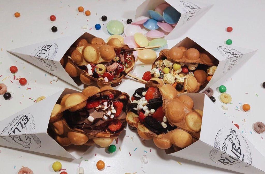 Ab Samstag gibts die begehrten Bubble-Wrap-Waffles dauerhaft im Fluxus. Foto: Blub Stuttgart