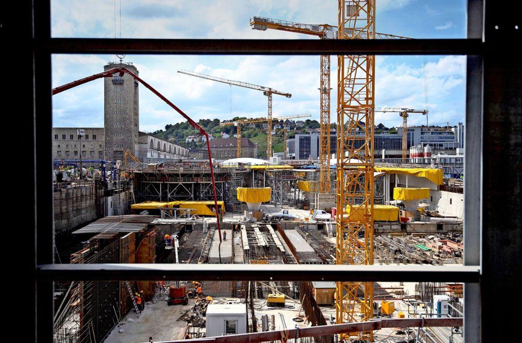 Blick auf S-21-Baustelle Foto: dpa/Marijan Murat