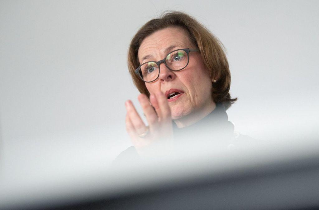 Beate Bube, die Präsidentin des baden-württembergischen Geheimdienstes, sprach  von einer abstrakt hohen Gefahr. Foto: dpa/Marijan Murat