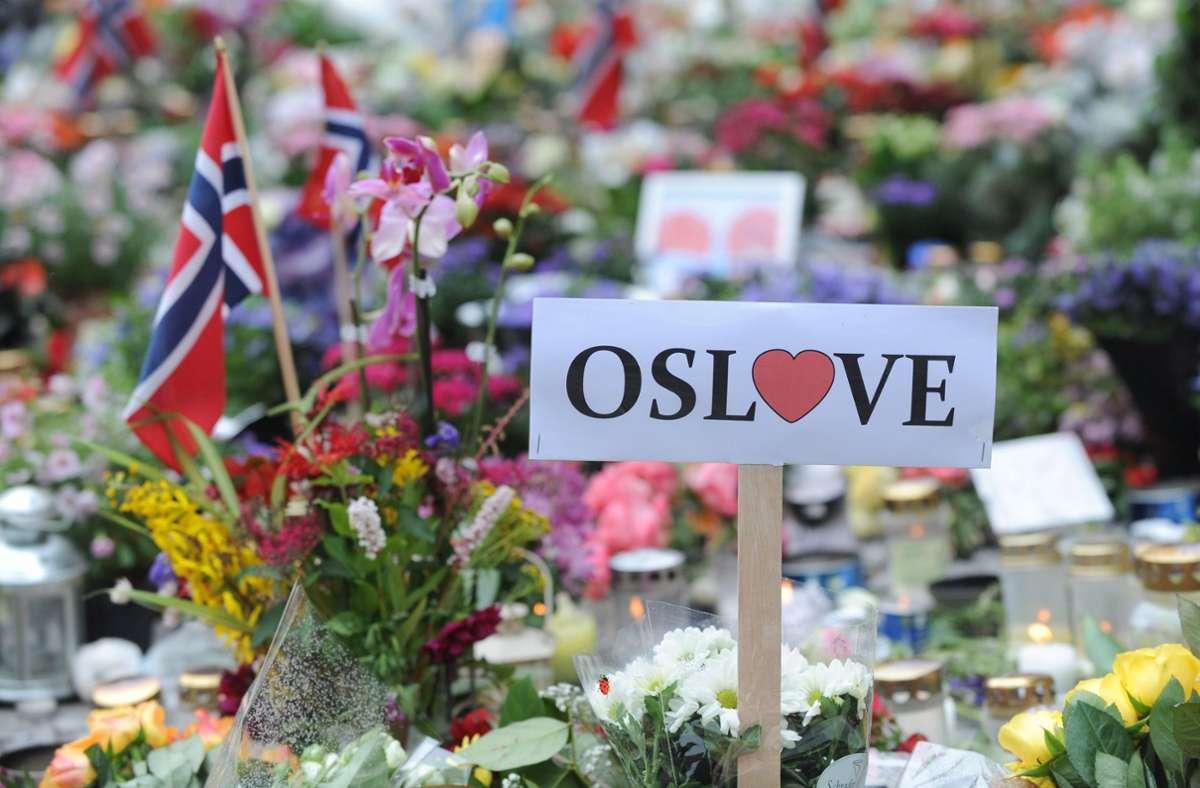 Erinnerungen an einen terroristischen Schreckenstag 2011 in Norwegen Foto: dpa/Britta Pedersen