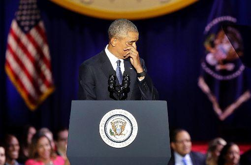 Tränen zum Abschied und Appell an die Bürger
