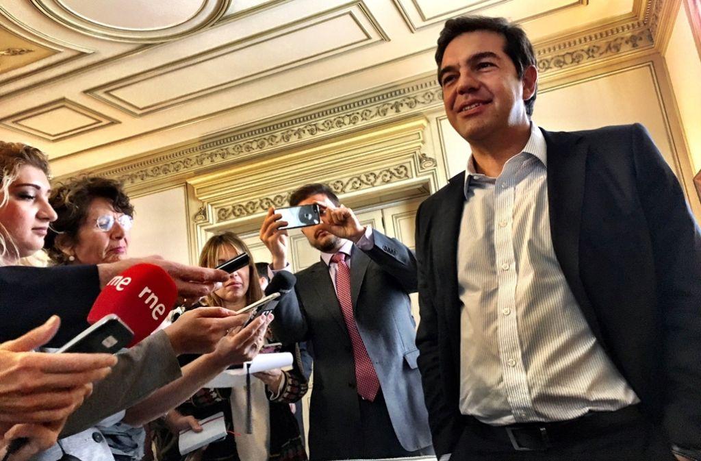 Alexis Tsipras fordert in der Flüchtlingskrise mehr Solidarität von Europa ein. Foto: Krohn