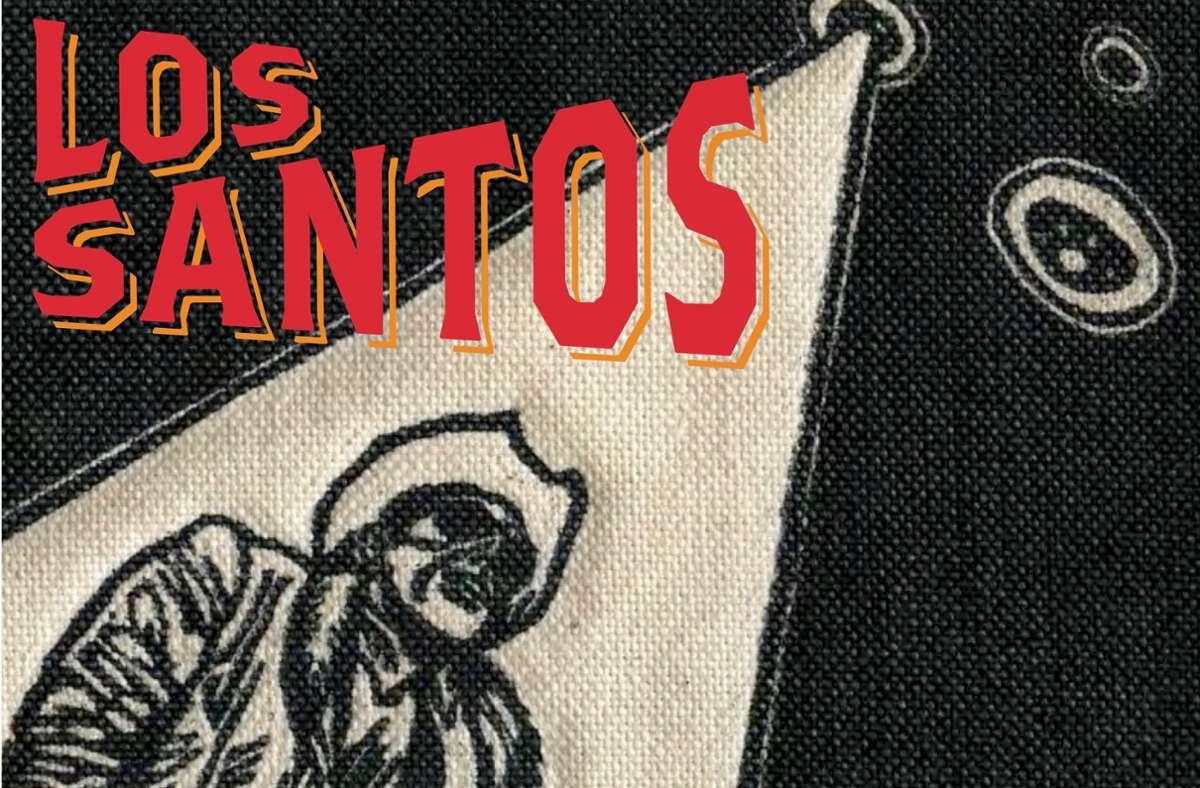 "Cowboy mit fliegenden Untertassen: das Cover zum Los-Santos-Album ""Cowboys & Cosmonauts"" Foto: Label"
